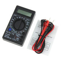 볼트 멀티 미터 LCD 디지털 멀티 미터 전압계 옴 측정기 전압계 프로브와 함께 전류계 과부하 보호