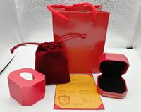 Nuovo Arrivo Abbigliamento Box Borse Borse Imballaggio Gioielli Red Color Box Box Jewelry Box Imballaggio da scegliere