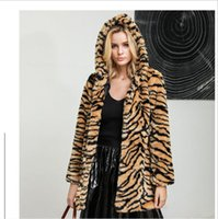 New European American winter faux fur jacket 2019 super thic...