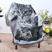 100% Pure Cotton Cat Retro 3D Cartoon Printed Super Soft Sof...