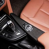 Углеродное волокно Внутренняя передача коробки для переключения крышки Обложка отделки интерьера Украшения декоративной наклейки для BMW 3 4 Series 3GT F30 F31 F32 F34 F36 2013-19