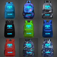 Marshmello Luminous Backpack Teenagers Students Schoolbag Fo...
