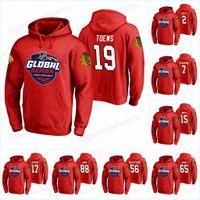 19 Jonathan Toews Chicago Blackhawks Globale Jersey 2 Duncan Keith 88 Patrick Kane 17 Dylan Strome 65 Andrew Shaw Hoodies Trikots Sweatshirt