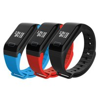 Bluetooth intelligente Bracciale F1 impermeabile della vigilanza di sport di salute di modo ossimetria Blood Pressure Monitor frequenza cardiaca Fitness Tracker