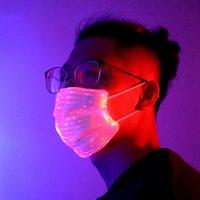 الأزياء قناع LED الألياف البصرية ضوء قناع بار DJ ديسكو الرجال وحزب النساء أزياء ملونة حزب قناع RRA3107
