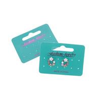 جديد موضة حلق بطاقة بطاقة حلق 5 * 7cm و/ 7 * 4.8CM مخصص تكلفة شعار 100pcs التي اضافية بطاقة القرط مجوهرات العرض التعبئة والتغليف