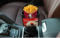 Automotive Auto Interieur Cup Franse Fries Houder Fastfood Drink Drinken Mobiele Telefoon Mount Opslag Zwart