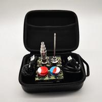 E Nail électrique portatif Dab Nail contrôleur PID TC Wax Box 10 16 20 mm Bobine avec Domeless Ttitanium clous