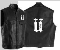 Uppercase U unkut gilet en cuir noir moto hip hop gilet en cuir mâle imitation punk solide printemps veste sans manches