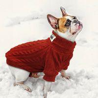 Puppy Dog magliata del gatto dell'animale domestico Caldo Inverno Classic maglioni lavorati a maglia dolcevita Cani di piccola taglia Gatti gattino morbido Maglieria Abbigliamento