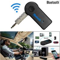 Mikrofon İçin Telefon MP3 Perakende Box ile Universal 3.5mm Bluetooth Araç Kiti A2DP Kablosuz FM Verici AUX Ses Müzik Alıcısı Adaptörü Eller serbest