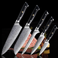 Damascus Steel Chef Knife Set afiada Cutelo desossa santoku Utility vegetal faca High-end Exquisite Gift Set Faca G10 Handle Kitchen