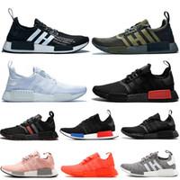 Adidas NMD R1 OFF WHITE Chaussures de course en gros pour Hommes Femmes OG Oliver Triple Noir Blanc Japon Solaire Rouge Rose nmds Respirant Sport Baskets