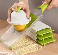 4 Blade Adjustable Mandoline Slicer Fruit V Slicer Vegetable...