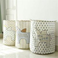 el envío libre de la cesta de lavadero de almacenamiento 40 * 50cm cesta grande para cesto de lavado de ropa sucia misceláneas cestas de almacenamiento de la caja de juguetes