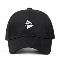 Paper plane Embroidery Baseball Cap Men Women Summer Adjusta...