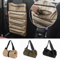 Холст Инструмент рулонной сумки ключ хранение Carrier Сумка автомобили Back Seat Организатор