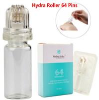 Hydra Roller 64 Épingles Titanium MicroneDle Timbre de dermaroller avec tube de gel 10ml Ailette de soins de la peau CE FDA