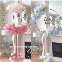 Novo estilo flor Titular redonda pequena exibição Rodapés Com Balão arco titular Para senyu0190 casamento do evento
