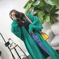 SVOKOR Cardigan Frauen Langarm-Trend Hohle Frauen gestrickten Pullover lose Freizeit Plus Size Cardigan