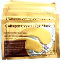Máscaras de ojo de colágeno doradas, cosméticos para el cuidado de la piel 3g, mejora la bolsa de ojos, borde negro, ojos DHL maquillaje para el cuidado de los ojos gratis