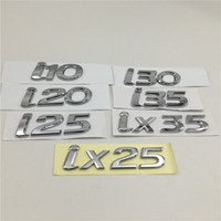 هيونداي I10 I20 لI25 I30 I35 IX35 ix25 الشعار شعار الخلفية جذع الذيل اللوحة ملصقات السيارات