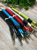 스마트 폰 100PCS / LOT에 대한 유형 C 마이크로 USB 케이블 1M 3 피트 짠 꼰 나일론 국수 2.0A 하이브리드 색상