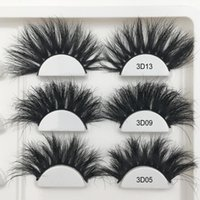 RED SIREN 25mm False Eyelashes Wholesale Thick Strip 25mm 3D...