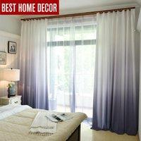1 pcs gradient cor cortina de janela para sala de estar quarto decoração de cozinha cortinas e cortinas blackout para a taxa de sombreamento de janela 70%