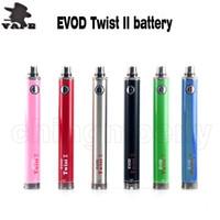 Chaude EVOD Twis 2 batterie 1600mah3.5V-4.8V Vision Spinner II Batterie Tension Variable Pour 510 fils ETS Nautilus Vape Pen DHL gratuit