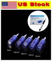 Stock US !!! 9/12/36/42 / Nano pour stylo derma Dr.pen stylo microneedle rechargeable dermapen dr stylo A1 cartouche à aiguille