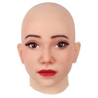 Искусственная кожа лица Human Реалистичная Crossdresser трансгендеров Fool's-Day Обезображивание ремонта Маскировка самостоятельной Силикон Хэллоуин маска для лица
