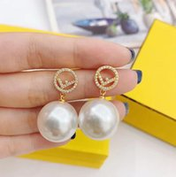 Women Brand Letter F Earrings with A+ Crystal Fashion Design...