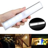 1pc LED insan vücudu indüksiyon kabine lamba kapalı dolap lamba başucu gece lambası beyaz sıcak / beyaz