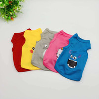Cartoon Pet Dog Clothes Summer Cotton Puppy T Shirt Clothing...