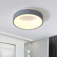 Negro lámpara blanca / / café moderna del LED para la sala de estar luminarias de comedor de aluminio cuerpo atenuación casa Dero