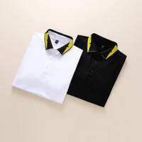 Novo ouro marca medusa polo camisas pretas primavera luxo itália homens t-shirt designers polo camisas high street bordado bordado roupas shir