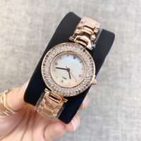 2019 New Model gute Fashion Luxus-Frauen-Uhr mit Diamanten-Relojes De Marca Mujer Dame-Kleid-Uhr Marke Rhinestone-Quarz Drop-Shipping
