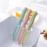 Herramienta de la cocina de cerámica de alta calidad mini mango del cuchillo de cocina de plástico cuchillo afilado cuchillo fruta de pelado Inicio Cubiertos Accesorios DBC VT0379