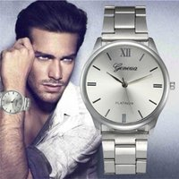 Men Men's Watch Dress Simple Quartz Watch Silver Crystal Stainless Steel Strap Hour Precise Clock For Man Relojes Hombre Gifts