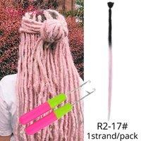 20inch Natural macio artesanal cabelo rabo de cavalo extensões Crochet fazer tranças no cabelo extensões 52 corantes sintéticos Dreadlocks Faux Locs Dread 1 Raiz