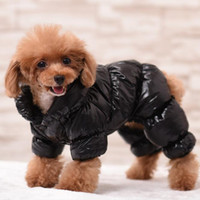 Haustier Hund verdicken glänzende Windschutzjacke des Hundes Gesicht Mode Hip-Hop Mantel Herbst Winter Mode Pullover Weste Kleidung