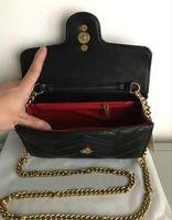مصمم الأعلى مارمونت الكتف أكياس القابض المرأة سلسلة حقيبة crossbody حقائب اليد مصمم الشهيرة حقيبة الكتف الإناث رسالة حقيبة محفظة محفظة