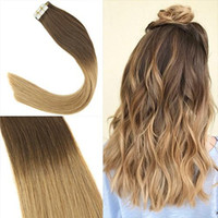 Best Skin Weft Tape In Human Hair Extensions 100% Peruvian S...