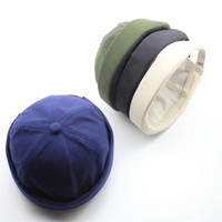 Feitong Männer Frauen Hut-Kappe beiläufige Hut-Hut-Docker Sailor Mechaniker brimless Solid Color Skullies Beanies New 2020
