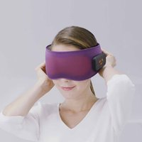 스마트 무선 3D 수면 아이 마스크 수면 보조 난방 여행 눈 마사지 패치 소프트 컴포트 눈가리개는 미용 도구를 휴식