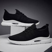 New arrival mens sports Running shoes black weaving Mesh clo...
