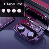 M11 진정한 무선 이어폰 TWS 블루투스 5.0 이어폰 HD CALL 스테레오 이어폰에서 헤드폰 소음 취소 Sprot 무선 헤드폰