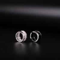Ring Ring Charm Fashion Bulgare, Image en noir et blanc Bague de mariage de Couple Mesdames hommes avec des bijoux cadeau