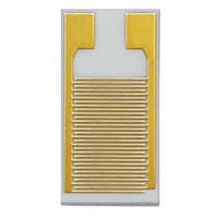 100 micrones electrodos de oro interdigitados matrices de condensador interdigital sensor de gas sensor de gas alúmina cerámica IDE alta estabilidad (5mm-10mm)